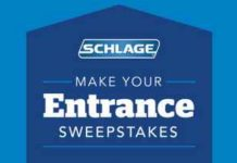 Schlage Locks Make Your Entrance Sweepstakes