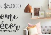 BHG $5,000 Fall Winter Sweepstakes