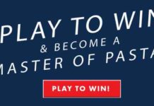Barilla Masters of Pasta Instant Win Game