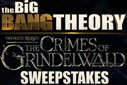 Big Bang Theory Fantastic Beasts Sweepstakes