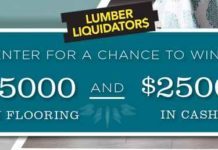 DIY Network and Lumber Liquidators Flooring Oasis Giveaway
