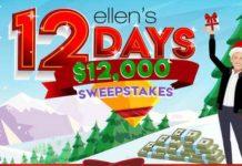 Ellen Shop 12 Days $12K Sweepstakes