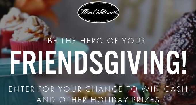 Mrs. Cubbison's Friendsgiving Hero Sweepstakes