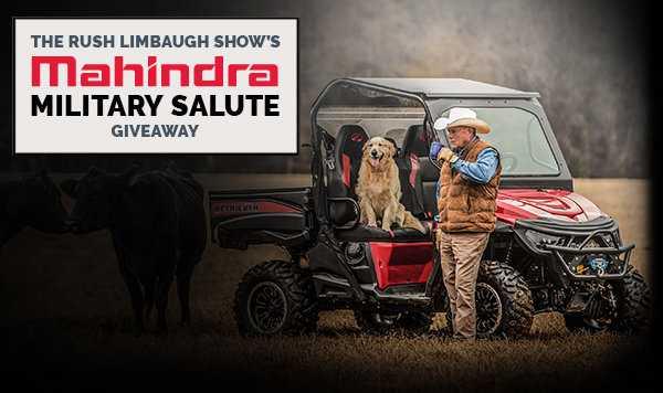 Rush Limbaugh Mahindra Tractor Giveaway