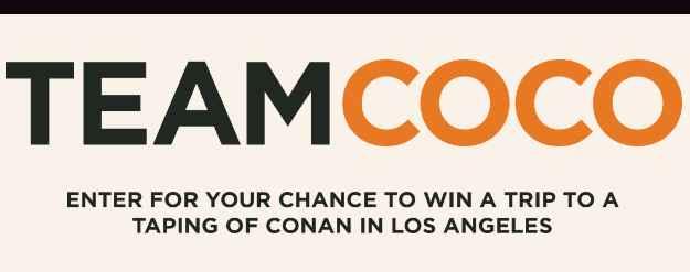 TBS Conan Comedy Tour Sweepstakes