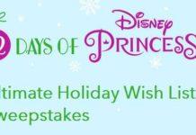 12 Days of Disney Princess Sweepstakes
