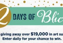 Blick Art 12 Days of Blick Sweepstakes
