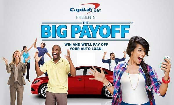 Capital One Auto Finance The Big Payoff Sweepstakes