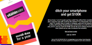Vitamin Water No Phone For A Year Contest