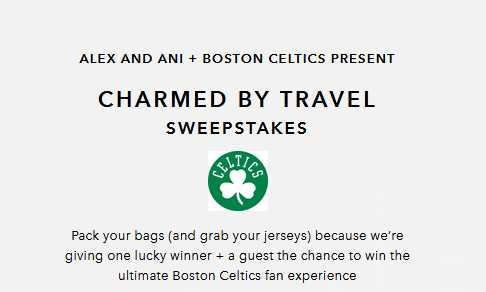 ALEX AND ANI Charmed by Travel Sweepstakes