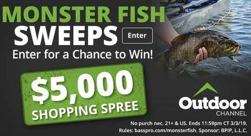 Bass Pro Monster Fish Sweepstakes