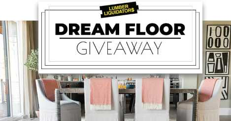 DIY Network Lumber Liquidators Dream Floor Giveaway