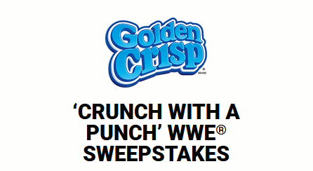 Golden Crisp Crunch With A Punch WWE Sweepstakes 2019