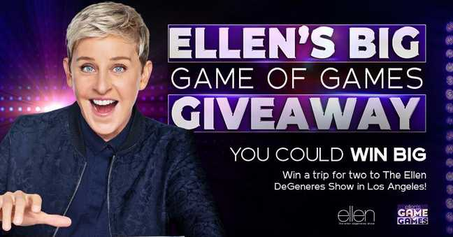 NBC Ellen Big Game of Games Giveaway at nbc.com/ellensweeps