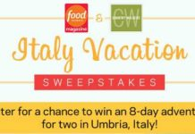 Food Network Italy Getaway Sweepstakes