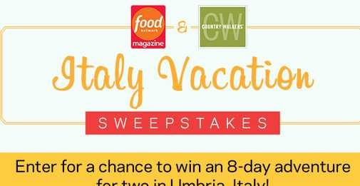 Food Network Italy Getaway Sweepstakes