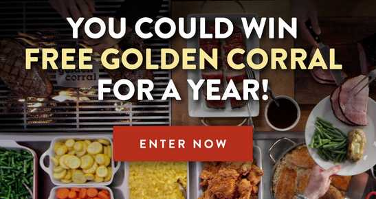 Free Golden Corral Sweepstakes