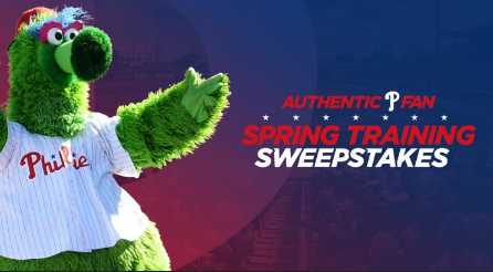 MLB Phillies Authentic Fan Sweepstakes