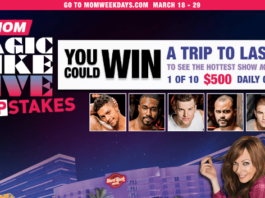MOM Magic Mike StripStakes Sweepstakes