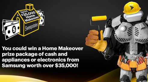 Sprint Home Makeover Sweepstakes