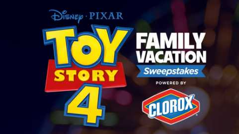 Disney Toy Story 4 Family Vacation Sweepstakes