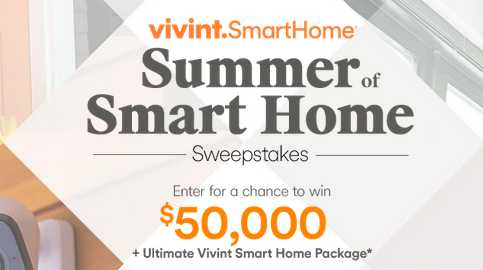 HGTV Summer of Smart Home Sweepstakes 2019