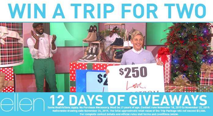 Ellen Trip Giveaway Contest