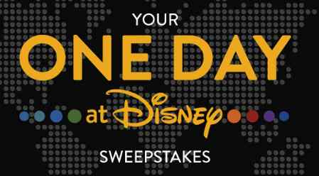 One Day At Disney Sweepstakes