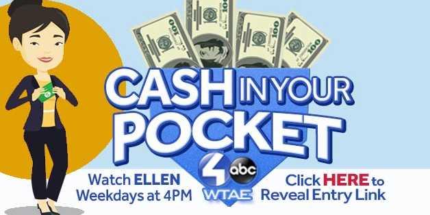 WTAE Ellen Cash In Your Pocket Contest