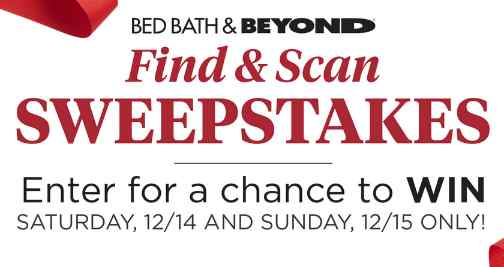 Bed Bath & Beyond Find And Scan Sweepstakes