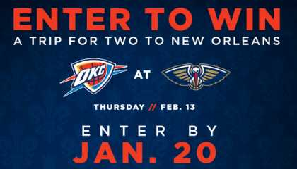 NBA Thunder On The Fly Sweepstakes