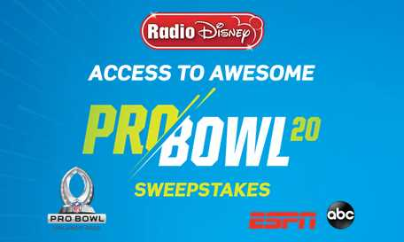 Radio Disney Access to Awesome NFL Pro Bowl Sweepstakes