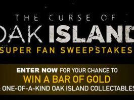 History Channel Curse Of Oak island Sweepstakes 2020