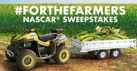 Busch Beer For The Farmers Sweepstakes