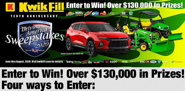 2020 Kwik Fill Driving America Sweepstakes