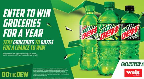 Mountain Dew Year Of Groceries Sweepstakes 2020