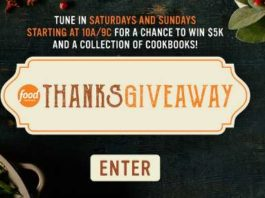 Food Network Thanksgiving Giveaway Code Word 2020