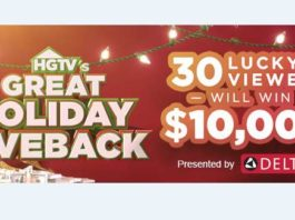 HGTV Great Holiday Giveback Sweepstakes Code Word