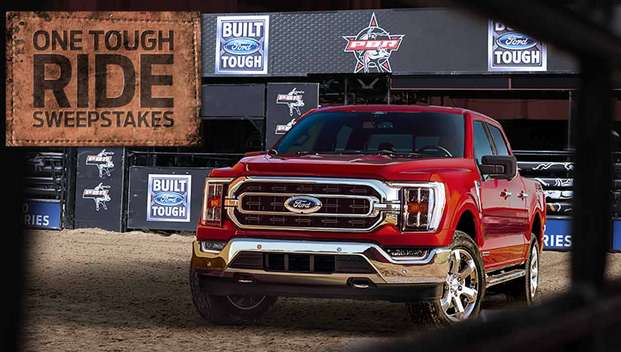 PBR.com/ford Sweepstakes Built Ford Tough One Tough Ride PBR Sweepstakes 2021