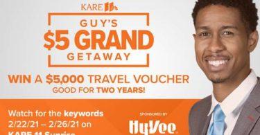 Kare 11 Guy's $5 Grand Getaway Contest