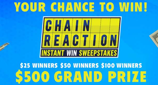 GSNTV Game Show Network Chain Reaction Instant Win Sweepstakes