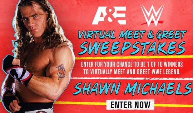 A&E WWE Virtual Meet and Greet Sweepstakes 2021
