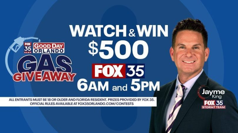 Fox 35 Gas Giveaway Contest