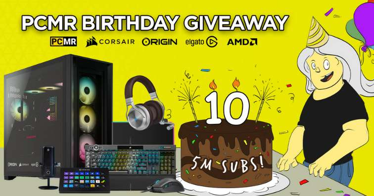 PCMR Birthday Giveaway