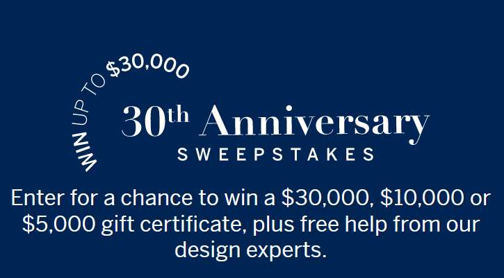 Frontgate 30th Anniversary Sweepstakes 2021