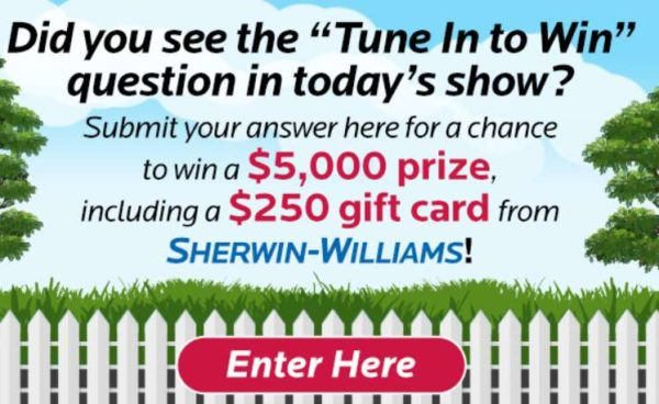 Live With Kelly And Ryan Tune In to Win Sweepstakes Answer 2021