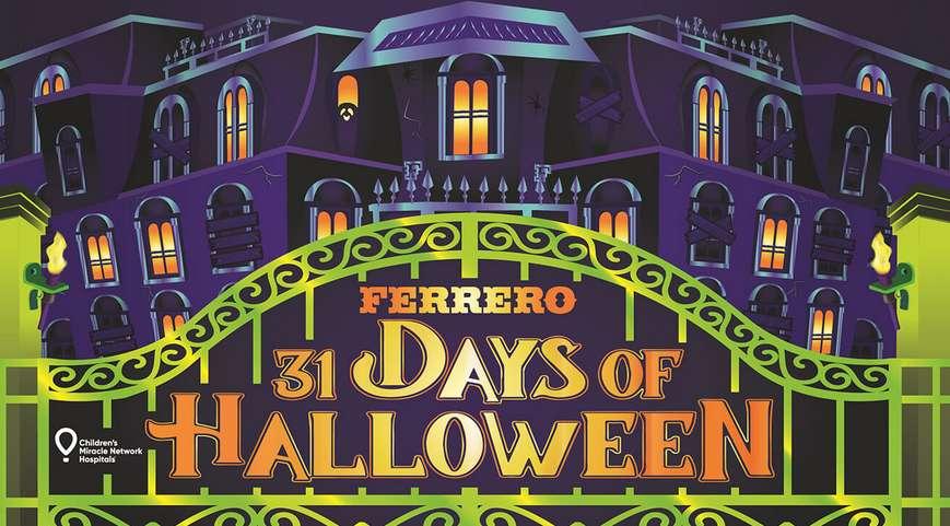 Ferrero 31 Days of Halloween Sweepstakes 2021