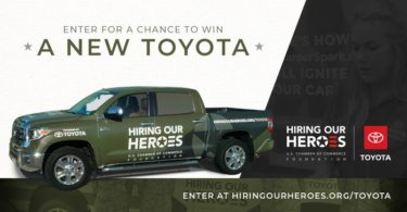 Hiring Our Heroes Committed to America's Heroes Sweepstakes Giveaway