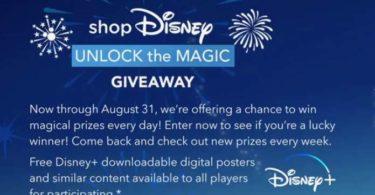 shopDisney Unlock The magic Giveaway 2021
