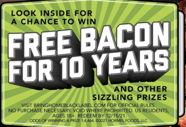 Bring Home Black Label Bacon Sweepstakes 2021